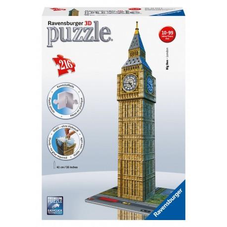 Ravensburger - 12554 - Puzzle 3D - Puzzle 216 - Big Ben