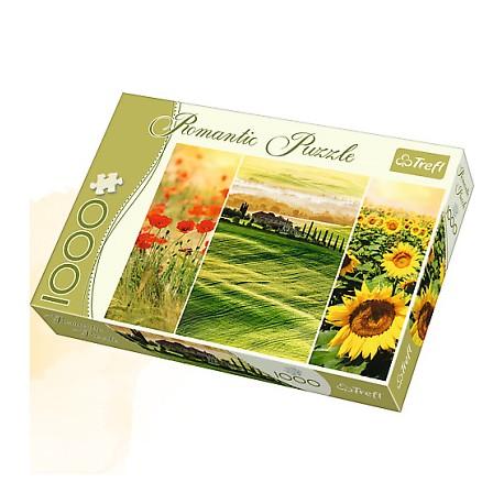 Trefl - 10410 - Puzzle 1000 - Romantic - Słoneczna Toskania