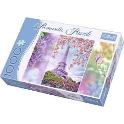 Trefl - 10409 - Puzzle 1000 - Romantic - Wiosna w Paryżu