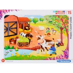 CLEMENTONI Puzzle w Ramce FARMA 15 el. 22233