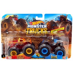 HOT WHEELS Monster Trucks SPUR MOMENT VS STEER CLEAR GBT70