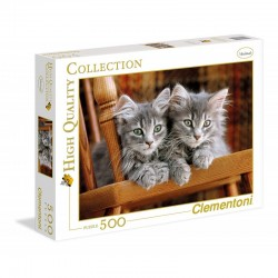 CLEMENTONI Puzzle 500 el. High Quality Collection SZARE KOTKI 30545