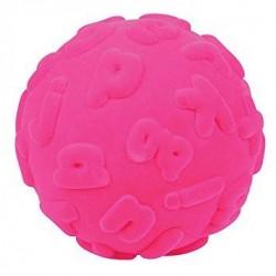 RUBBABU Różowa Piłka Sensoryczna z Literkami Alfabetu 20313