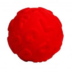 RUBBABU Czerwona Piłka Sensoryczna z Literkami Alfabetu 20313