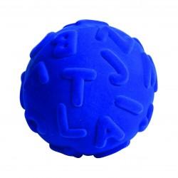 RUBBABU Granatowa Piłka Sensoryczna z Literkami Alfabetu 20313