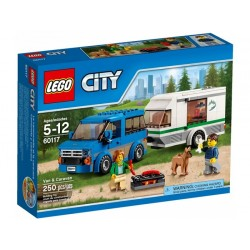 LEGO CITY 60117 Van z Przyczepą Kempingową NOWOŚĆ 2016