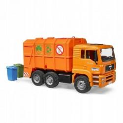 BRUDER Pojazd Komunalny POMARAŃCZOWA ŚMIECIARKA 02760