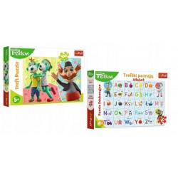 TREFL Trefliki Poznają Alfabet + Puzzle 9593