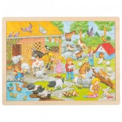 GOKI Puzzle Drewniane FARMA 57685