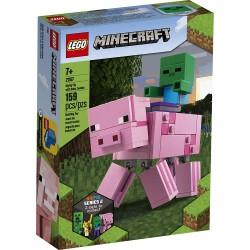 LEGO MINECRAFT 21157 BigFig Świnka i Mały Zombie