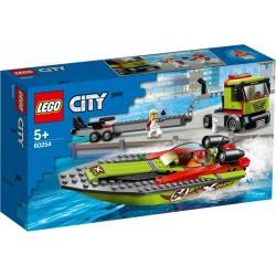 LEGO CITY 60254 Transport Łodzi Wyścigowej