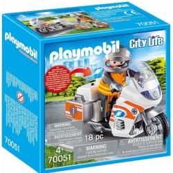PLAYMOBIL 70051 City Life MOTOCYKL RATOWNICZY Ze Światłem