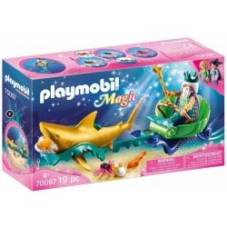 PLAYMOBIL 70097 Magic KRÓL MORZA Z REKINAMI