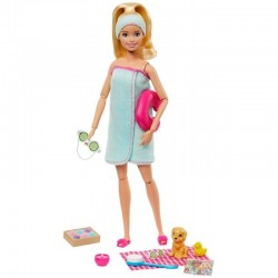 MATTEL Lalka Barbie You Can Be Anything LALKA W KĄPIELI GJG55