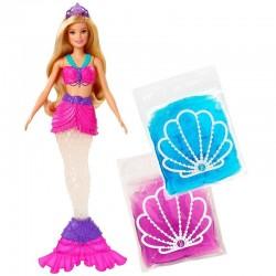 MATTEL Dreamtopia Lalka Barbie SYRENA BROKATOWA Slime GKT75
