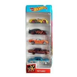 HOT WHEELS Zestaw 5 Samochodzików HW FLAMES FYL19