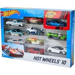 HOT WHEELS Zestaw 10 Samochodzików MIX 54886