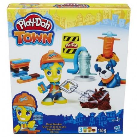 Ciastolina Play-Doh - B5972 - Town - Budowniczy i Wierny Pies