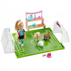 Mattel Lalka Barbie Club Chelsea BOISKO DO PIŁKI NOŻNEJ GHK37