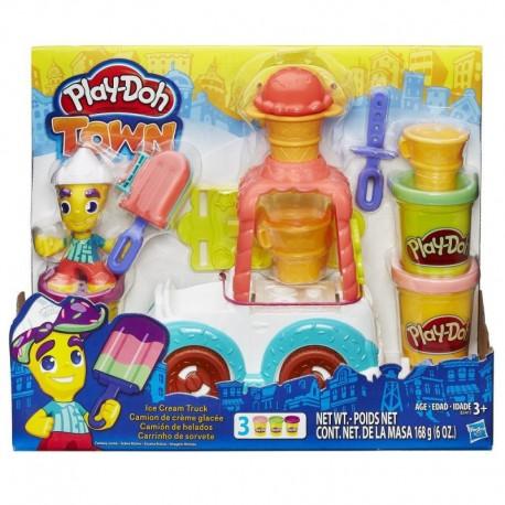 Ciastolina Play-Doh - B3417 - Town - Samochód z Lodami