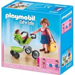 PLAYMOBIL 5491 CITY LIFE Mama z Wózkiem