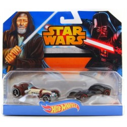 Hot Wheels STAR WARS Pojazdy OBI-WAN KENOBI I DARTH VADER CGX06