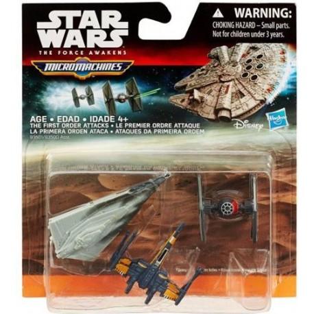 Hasbro STAR WARS Micro Machines THE FIRST ORDER ATTACKS B3501