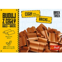 TREFL Brick Trick Buduj z Cegły Zestaw Uzupełniający CEGŁY DACHÓWKI 61036