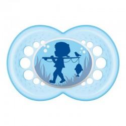 MAM Smoczek ORIGINAL Błękitny Chłopiec 16 msc+ 91125