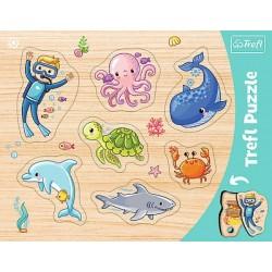 TREFL Pierwsze Puzzle 7 el PODWODNY ŚWIAT 31309