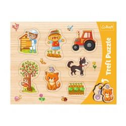 TREFL Pierwsze Puzzle 7 el FARMA 31306