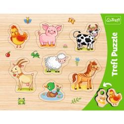 TREFL Pierwsze Puzzle 7 el ZWIERZĄTKA WIEJSKIE 31305