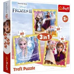 TREFL Puzzle Układanka 3w1 Frozen 2 KRAINA LODU 2 34847