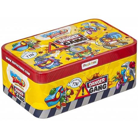 Magic Box Toys SUPER ZINGS Seria 4 Metalowa Puszka DANGER GANG 5 Figurek 9505