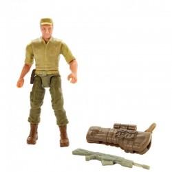 Mattel JURASSIC WORLD Figurka Ken Wheatley z Bronią FVN23