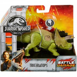 Mattel JURASSIC WORLD Battle Damage TRICERATOPS FNB38