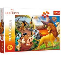 TREFL Puzzle 100 Elementów KRÓL LEW PRZYGODY SIMBY 16359