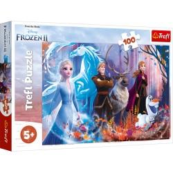TREFL Puzzle 100 Elementów FROZEN 2 KRAINA LODU 2 MAGIA KRAINY LODU 16366