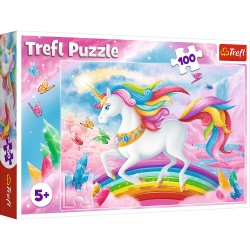 TREFL Puzzle 100 Elementów W KRYSZTAŁOWYM ŚWIECIE JEDNOROŻCÓW 16364
