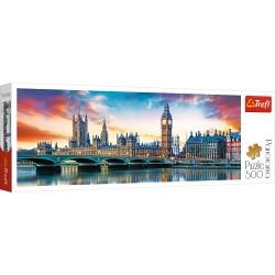 TREFL Puzzle Układanka 500 el. Panorama BIG BEN I PAŁAC WESTMINSTERSKI LONDYN 29507