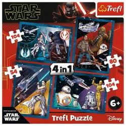 TREFL Puzzle Układanka 4w1 Disney STAR WARS POCZUJ MOC 34326