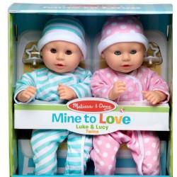 Melissa & Doug Mine to Love LALKI BOBASY BLIŹNIAKI Luke&Lucy 41711
