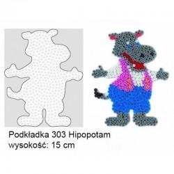 Hama - 30307- Podkładki do Koralików Hama Midi - Hipopotam