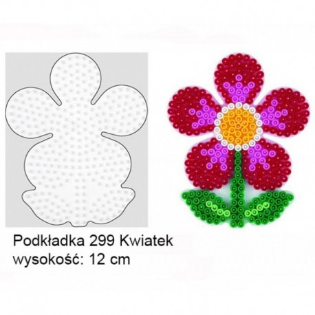 Hama - 299- Podkładki do Koralików Hama Midi - Kwiatek