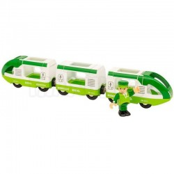 BRIO Green Travel Train POCIĄG PASAŻERSKI Zielony 33622