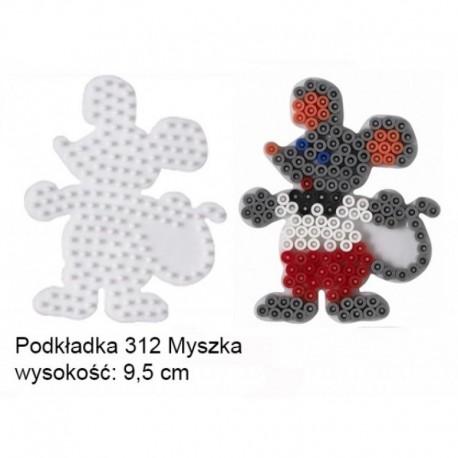 Hama - 31209 - Podkładki do Koralików Hama Midi - Myszka