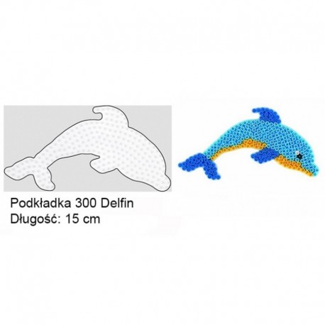 Hama - 30009 - Podkładki do Koralików Hama Midi - Delfin