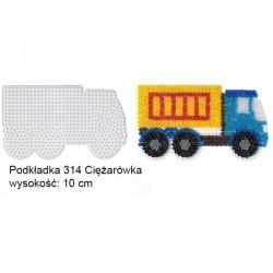 Hama - 314 - Podkładki do Koralików Hama Midi - Ciężarówka