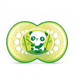 MAM Smoczek Crystal Zielony PANDA 6msc+ 91323