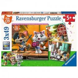 RAVENSBURGER Puzzle 3x49 44 KOTY 050130